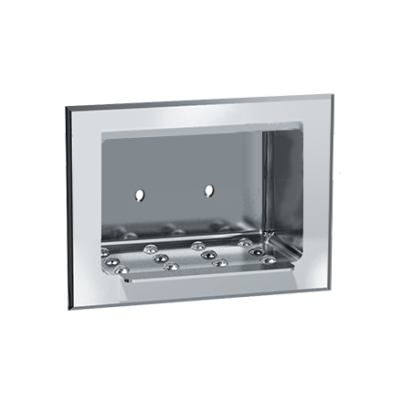 ASI-0400** - Soap Dish - Stainless Steel, Dry Wall - Recessed | Choice Builder Solutions