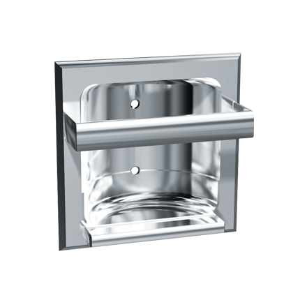 ASI-04ASI-*Z - Soap Dish w/ Round Bar - Chrome Plated Zamak - Recessed | Choice Builder Solutions
