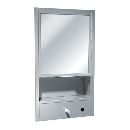 ASI 0430 - Traditional™ - All Purpose Cabinet - Shelf, Mirror, Towel & Liquid Soap Dispenser - Recessed | Choice Builder Solutions