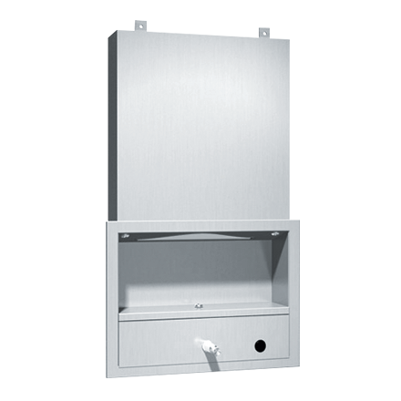 ASI 0431 - Traditional™ - All Purpose Cabinet - Shelf, Mirror, Towel & Liquid Soap Dispenser - Recessed Behind Mirror | Choice Builder Solutions