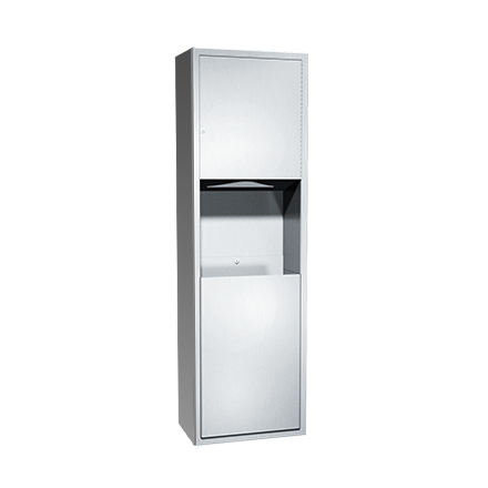 ASI-04697-9 - Traditional™ - Paper Towel Dispenser & Waste Receptacle - Multi, C-fold - 12 gal. - Surface Mounted | Choice Builder Solutions