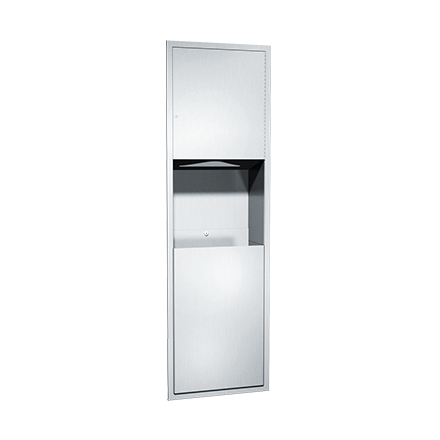 ASI-04697-4 - Traditional™ - Paper Towel Dispenser & Waste Receptacle - Multi, C-fold - 12 gal. - Semi-R | Choice Builder Solutions