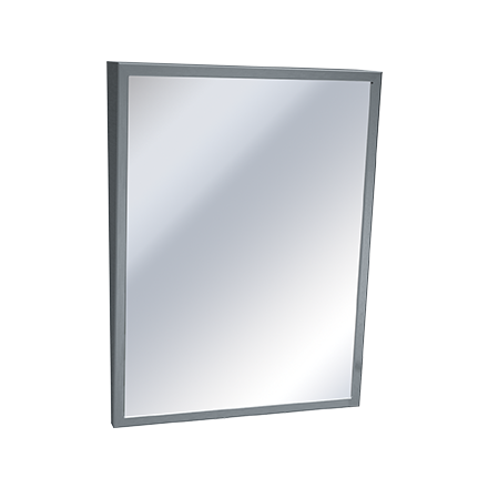 "ASI 0535-1824 - Mirror - Fixed Tilt, Stainless Steel Frame18""W X 24""H 