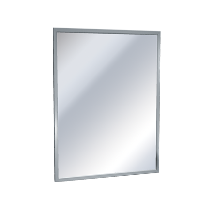 "ASI 0620-B2436 - Mirror - Stainless Steel, Chan-Lok Frame - Tempered Glass - 24""W X 36""H 