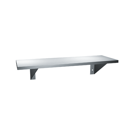 "ASI-0692-630 - Shelf - Stainless Steel - 6""D X 30""L - Surface Mounted 