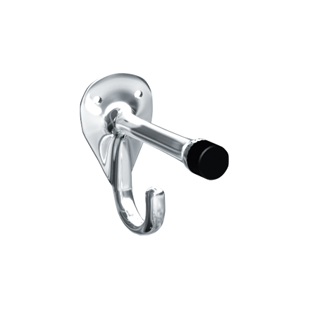 ASI 0714 - Coat Hook & Bumper - Chrome Plated Brass - Surface Mounted | Choice Builder Solutions