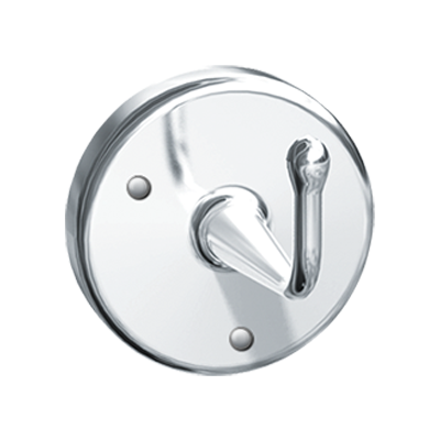ASI 0751-A - Robe Hook - Heavy Duty - Satin Chrome Plated Brass - Surface Mounted, Exposed | Choice Builder Solutions