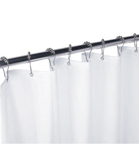 Gamco-100SC 42X72 -White Vinyl Shower Curtain with Grommets, Requires 8 Hooks | Choice Builder Solutions