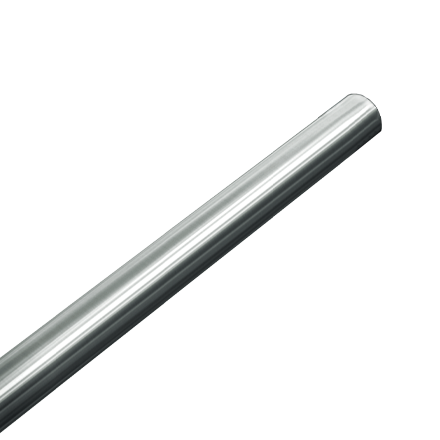 "ASI-1214-2 - Shower Curtain Rod -  - Stainless Steel, Price Per Foot Up to 6 Ft. - 1"" Dia. Bar 