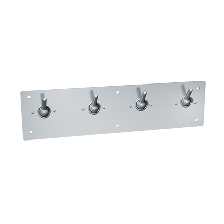 ASI-129 - Security Clothes Hook & Strip - Front Mount - Surface Mounted | Choice Builder Solutions