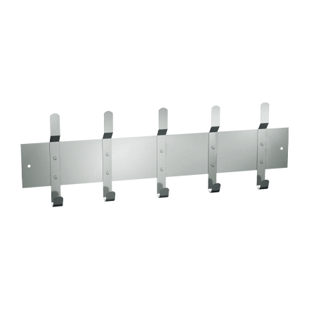 "ASI-1307-5 - Utility Hook Strip  - 5 Hooks - 46""L - Surface Mounted 