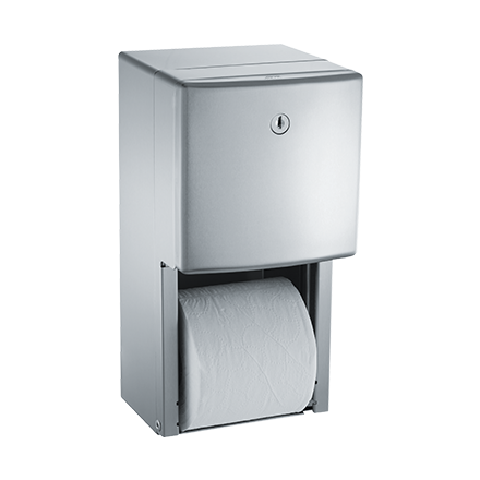 ASI 20030 - Roval™ - Toilet Tissue Dispenser - Twin Hide-A-Roll - Surface Mounted | Choice Builder Solutions