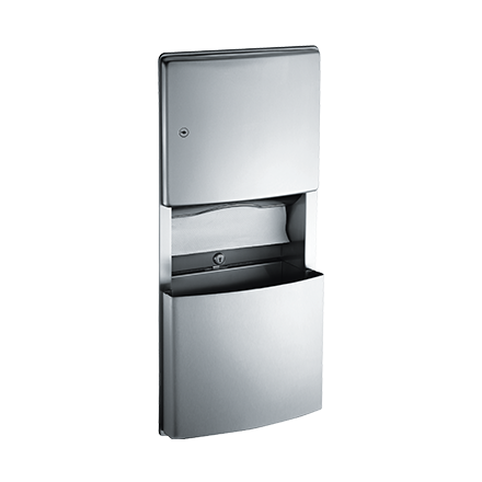 ASI 204623 - Roval™ - Paper Towel Dispenser & Removable Waste Receptacle - Multi, C-fold - 3 gal. - Recessed | Choice Builder Solutions