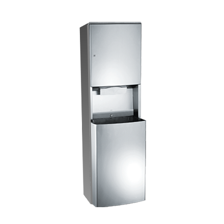 ASI 20469-9 - Roval™ - Paper Towel Dispenser & Removable Waste Receptacle - Multi, C-fold - 14.8 gal. - Surface Mounted | Choice Builder Solutions