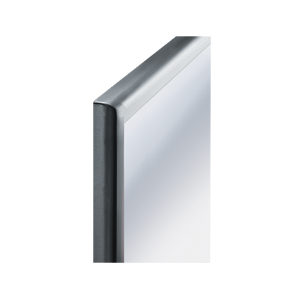 "ASI 20650-2436 - Roval™ - Mirror - Stainless Steel, Inter-Lok Frame - Plate Glass - 24""W X 36""H - Surface Mounted 