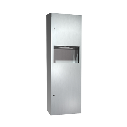 ASI-6462-9 - Simplicity™ - Paper Towel Dispenser & Waste Receptacle - Multi, C-fold - 4.2 gal. - Surface Mounted | Choice Builder Solutions