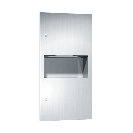 ASI-64623 - Simplicity™ - Paper Towel Dispenser & Waste Receptacle - Multi, C-fold - 2.2 gal. - Recessed | Choice Builder Solutions