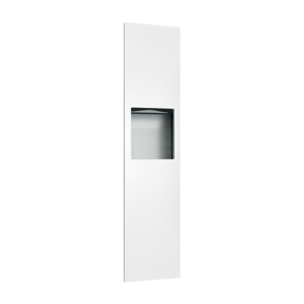 ASI-6467-00 - Piatto™ Completely Recessed Paper Towel Dispenser & Waste Receptacle - White Phenolic Door | Choice Builder Solutions