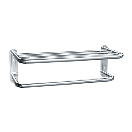 "ASI 7311-24B - Towel Shelf w/ Drying Rod - Bright Stainless Steel - 24""L - Surface Mounted 