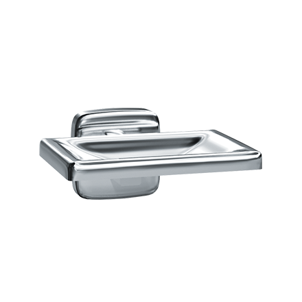 ASI 7320-B - Soap Dish - Bright Stainless Steel - Surface Mounted | Choice Builder Solutions