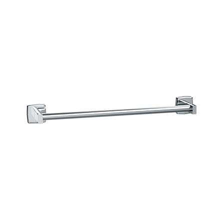 "ASI 7355-24B - Towel Bar  - Round - Bright Stainless Steel - 24""L - Surface Mounted 