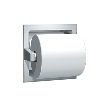 ASI-7403-B - Toilet Tissue Spare Holder - Bright Stainless Steel - Recessed | Choice Builder Solutions
