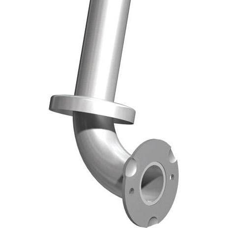 "ASI-3833-RP - Snap Flange (1-1/2"" O.D) Peened-Wall to Floor 30"" x 33"" w/Outrigger - Right Hand 