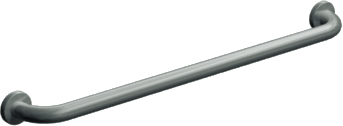 "ASI 3501-18 - Exposed Flange (1-1/2"" O.D) Smooth -  Straight Grab Bar, 18"" 