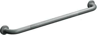 "ASI 3801-18P - Snap Flange (1-1/2"" O.D) Peened -  Straight Grab Bar, 18"" 