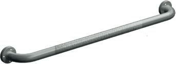 "ASI 3501-12P - Exposed Flange (1-1/2"" O.D) Peened -  Straight Grab Bar, 12"" 