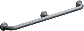 "ASI-3702-54 - Snap Flange (1-1/4"" O.D) Smooth -  Straight Grab Bar w/ Intermediate Support, 54"" 