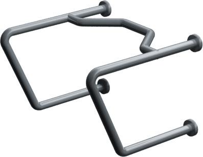 "ASI-3434 - Exposed Flange (1-1/4"" O.D) Smooth -  Straddle Grab Bar 