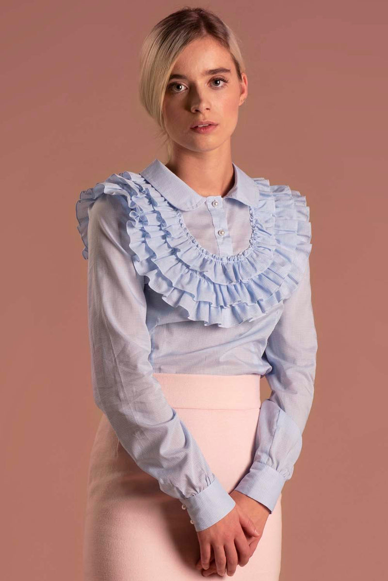 Blouse Laura Blue / Lilith by Katarina Baban / Autumn19 Collection