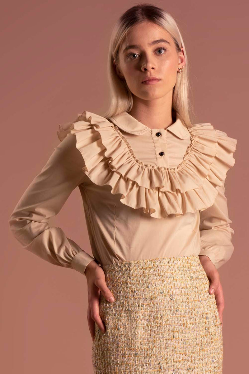 Blouse Laura Nude / Lilith by Katarina Baban / Autumn19 Collection