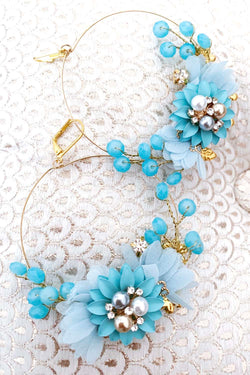 Blue Swan Earrings