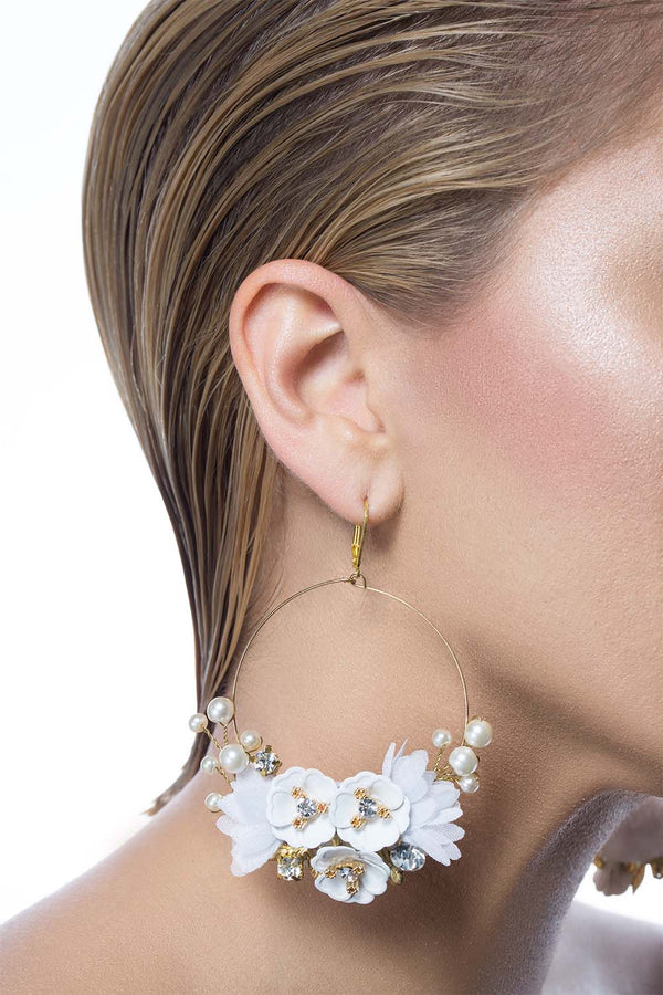 White Swan Earrings