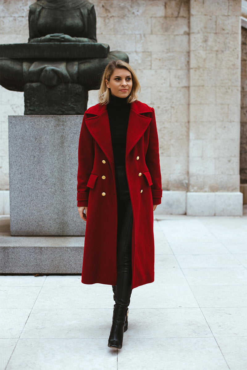 Coat Gemma Red