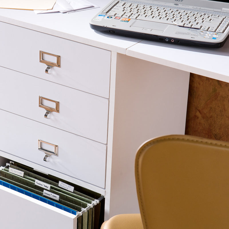 Fold-Out Organizer and Craft Desk - lifestyle, close up view of drawers