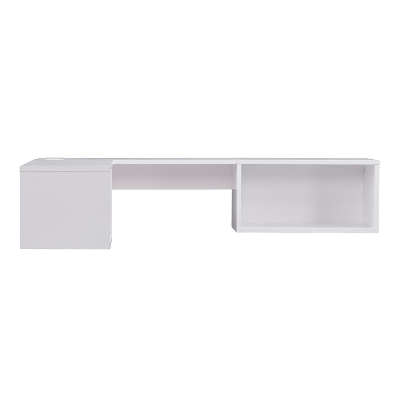 Fynn Wall Mount Corner Desk - front view