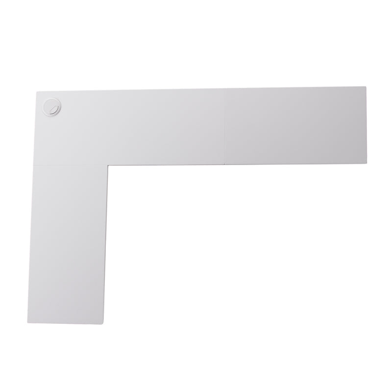 Fynn Wall Mount Corner Desk - top view