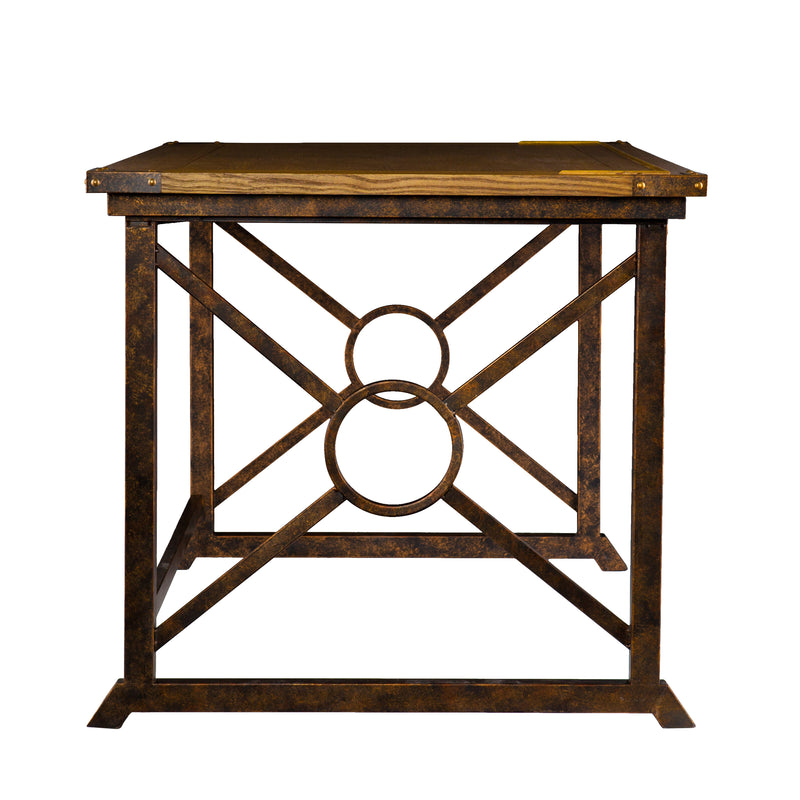 Knightley Tilt-Top Drafting Table - side view - tabletop flat