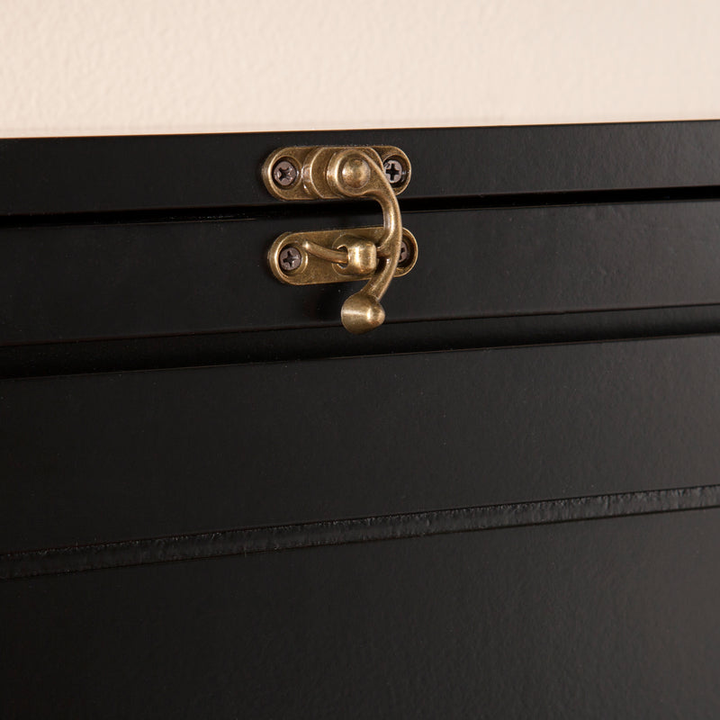 Wall-Mounted Desk - lifestyle photo - shown closed detail of locking mechanism