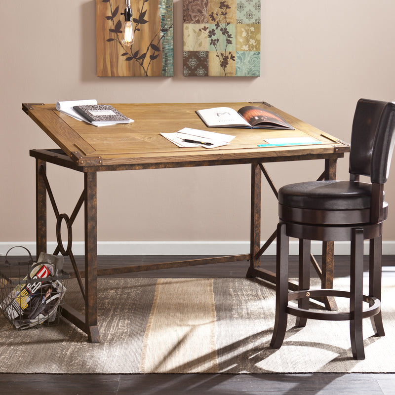 Knightley Tilt-Top Drafting Table - lifestyle photo