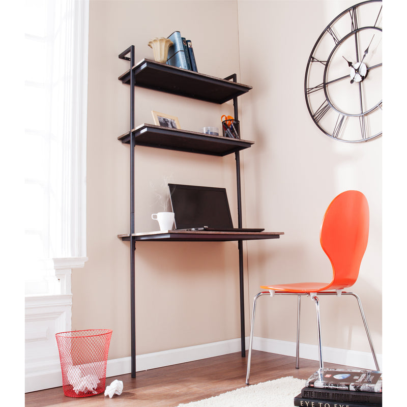 Haeloen Wall Mount Desk - lifestyle photo - low angle view