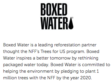 Boxed Water National Forest Foundation