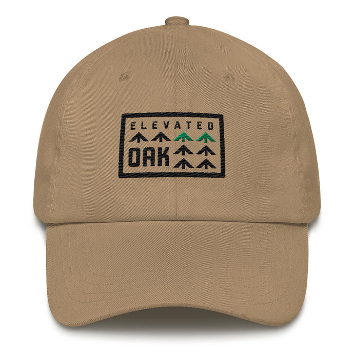 Khaki dad hat - Elevated Oak