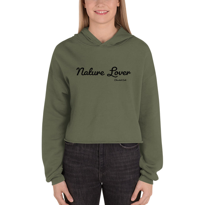 Nature Lover Crop Hoodie - Elevated Oak