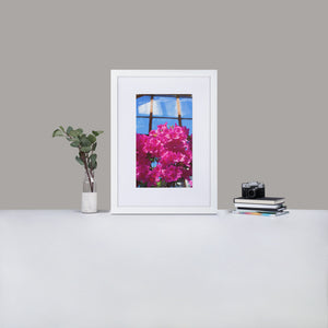 Flower Power framed nature photography - Elevated Oak
