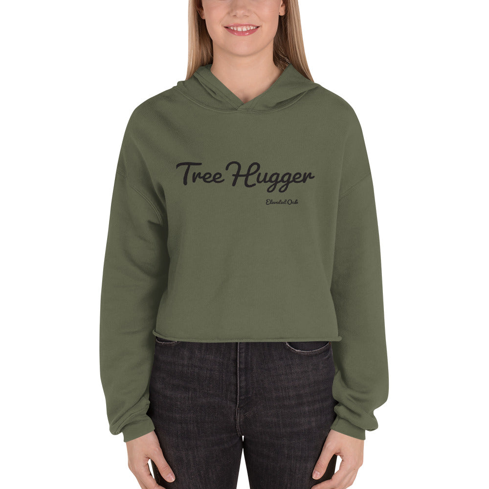 Tree Hugger Crop Hoodie - Elevated Oak