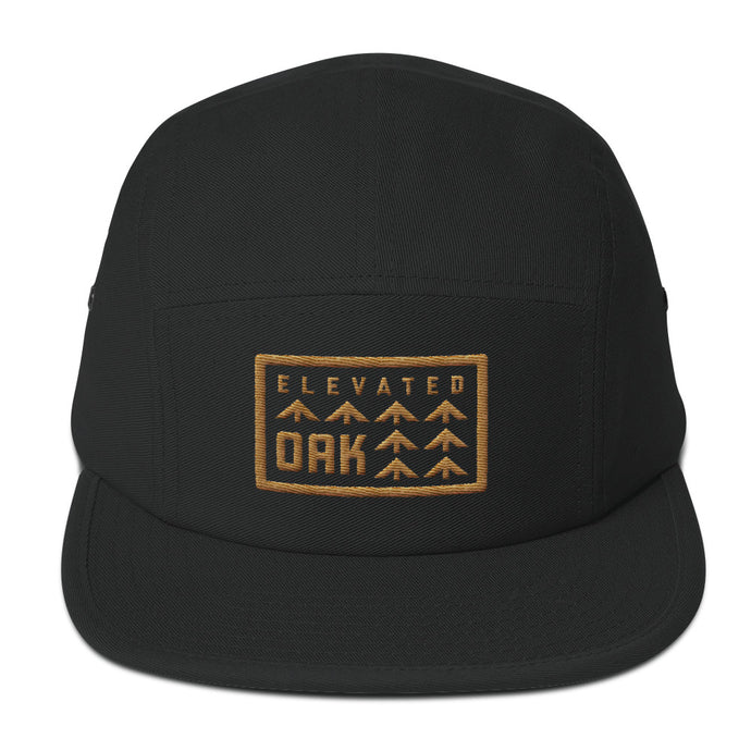 Gold Elevated Oak 5 Panel hat - Elevated Oak